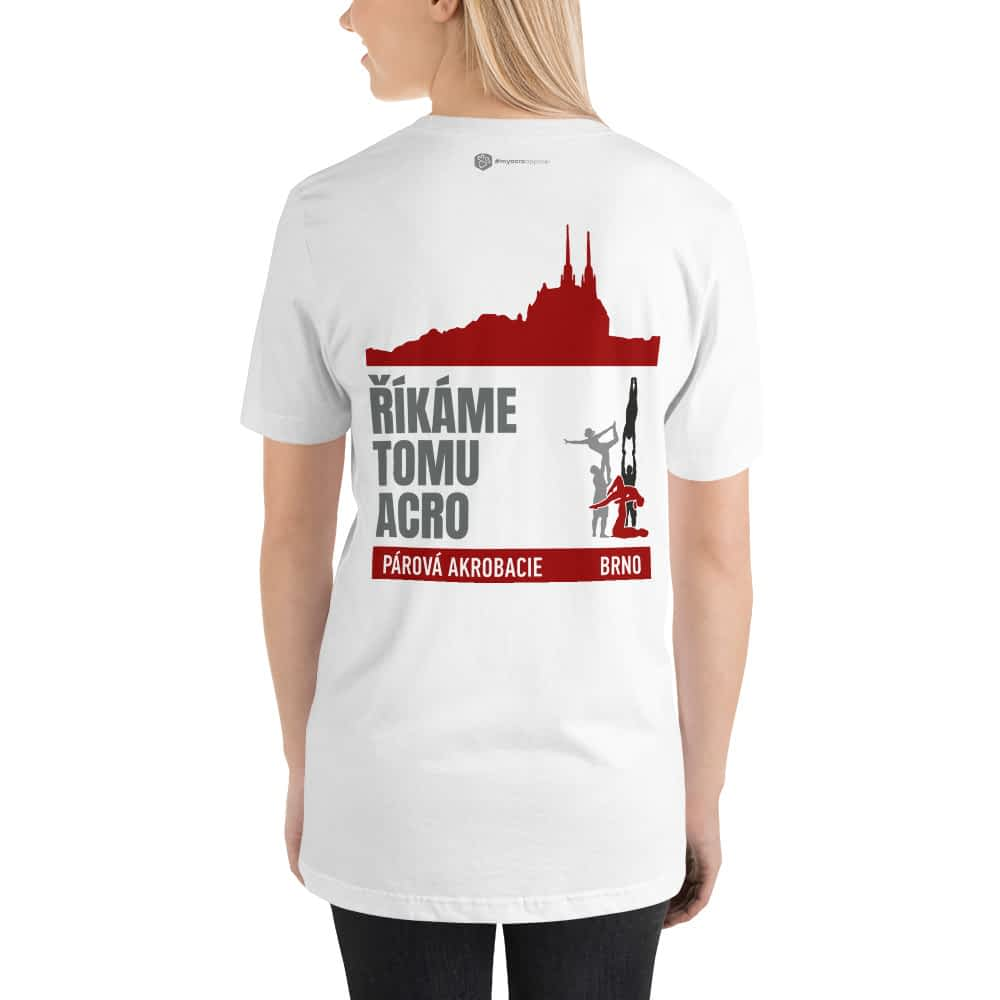 CZ Brno - Rikame tomu acro t-shirt White - girl from back