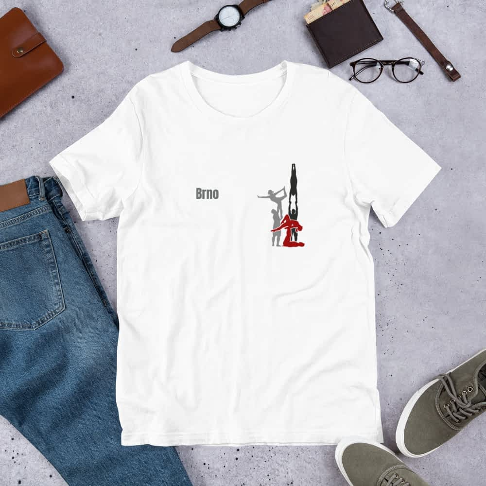 CZ Brno - Rikame tomu acro t-shirt White - shirt front