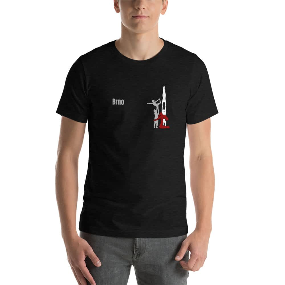 CZ Brno - Rikame tomu acro t-shirt heather black front