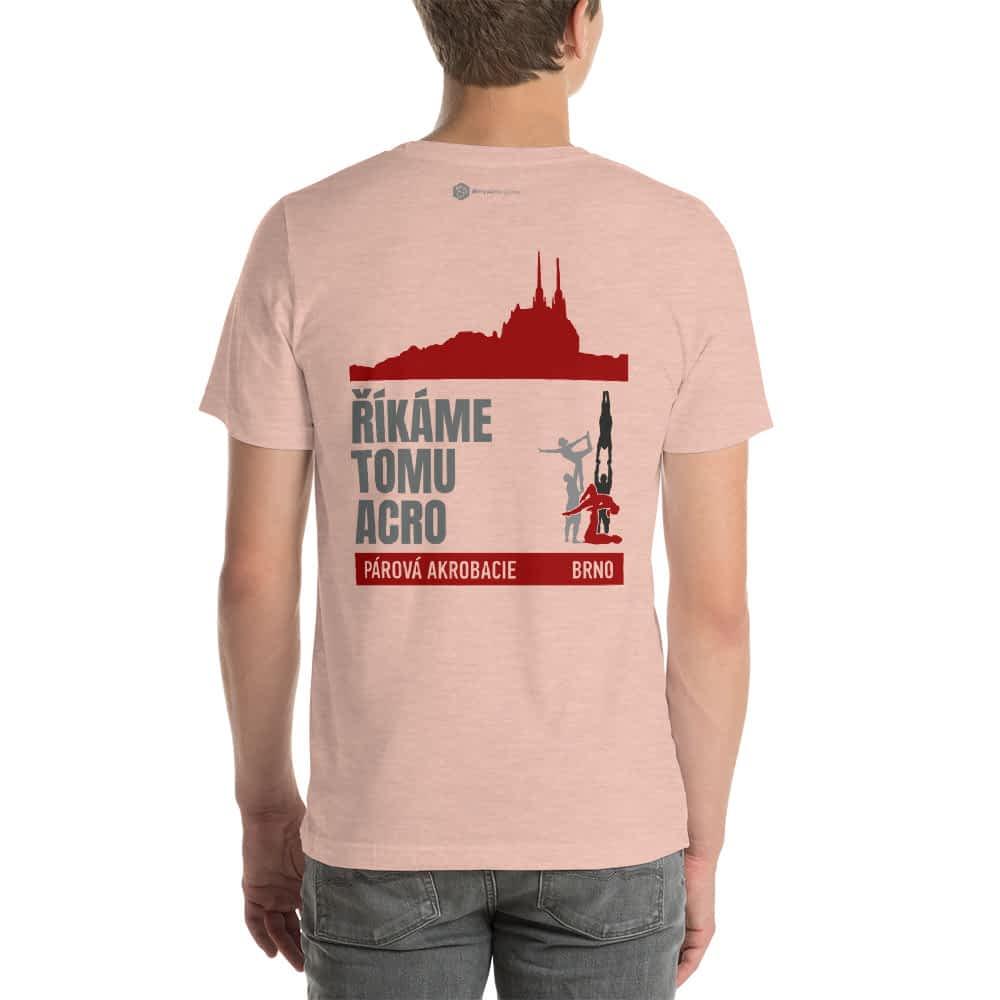 CZ Brno - Rikame tomu acro t-shirt Heather Prism Peach back
