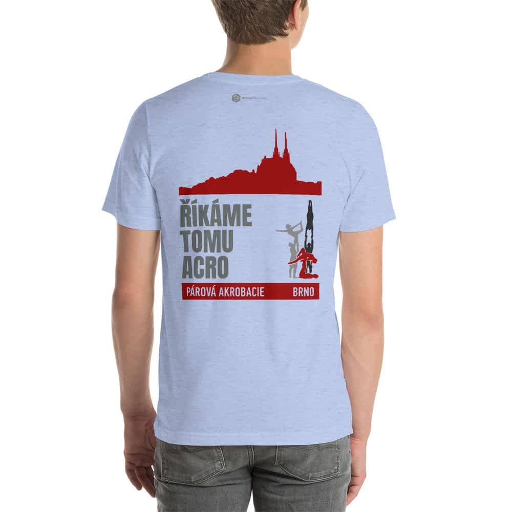 CZ Brno - Rikame tomu acro t-shirt Heather Blue back