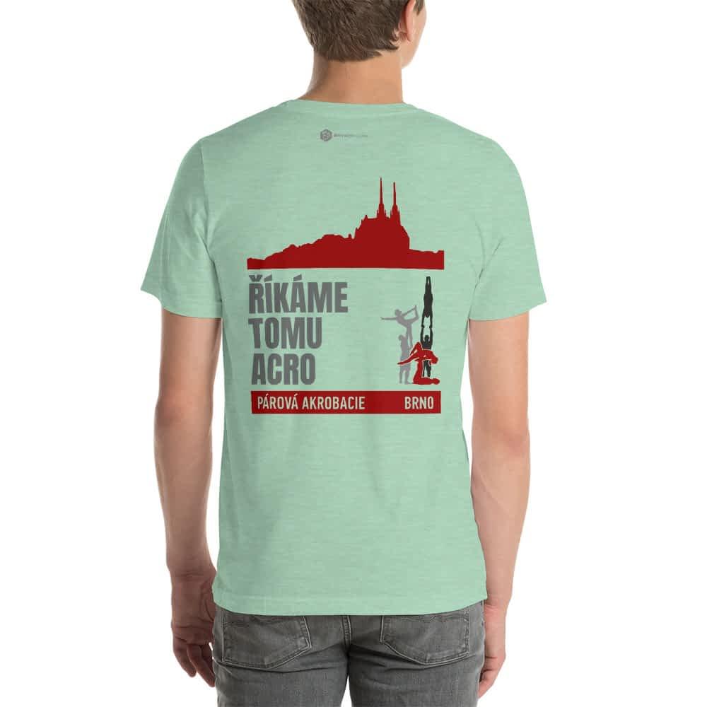 CZ Brno - Rikame tomu acro t-shirt Heather Prism Mint back