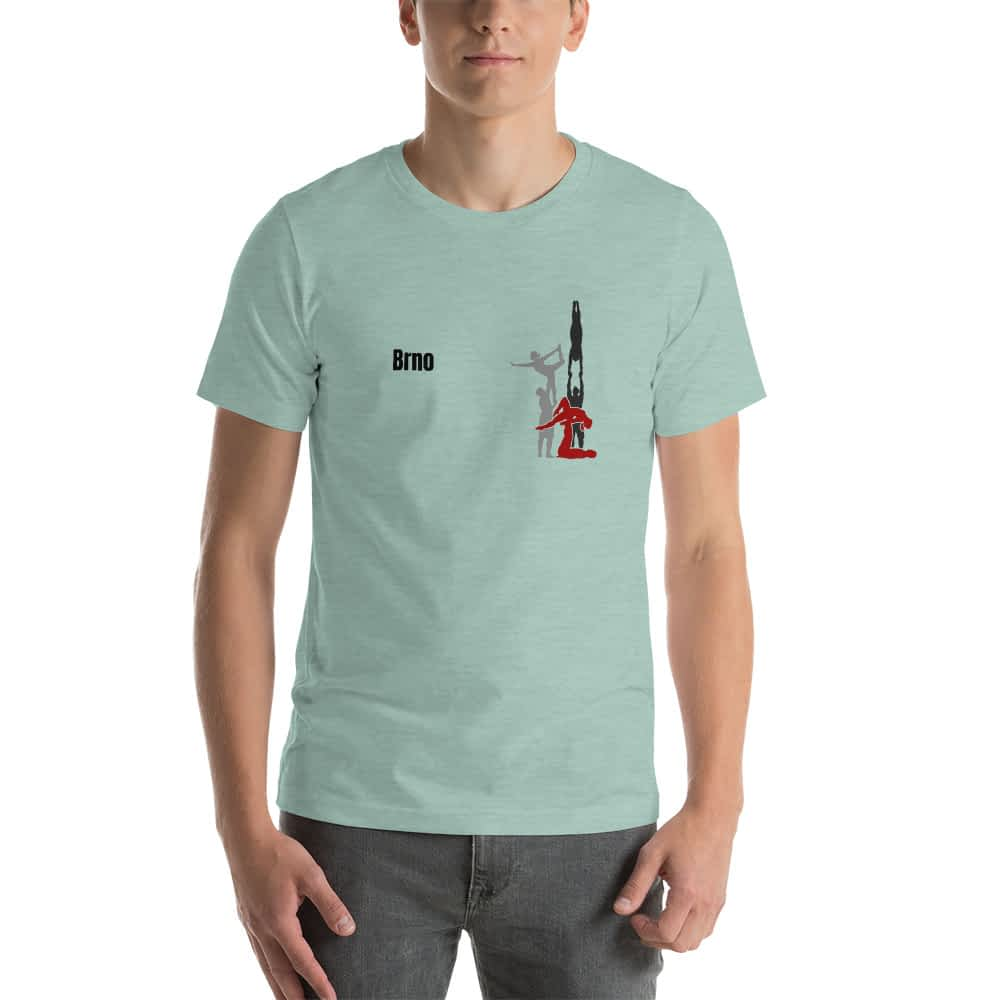 CZ Brno - Rikame tomu acro t-shirt Heather Prism Dusty Blue front