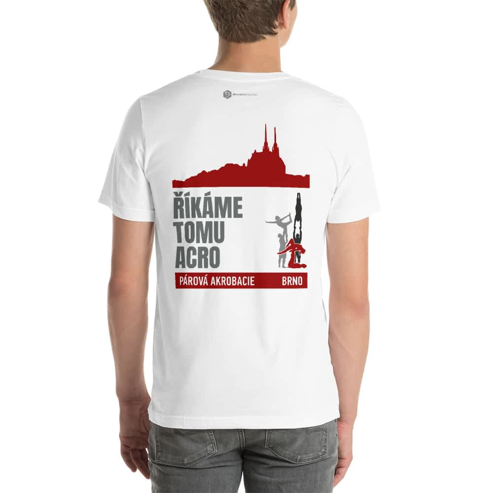 CZ Brno - Rikame tomu acro t-shirt white back