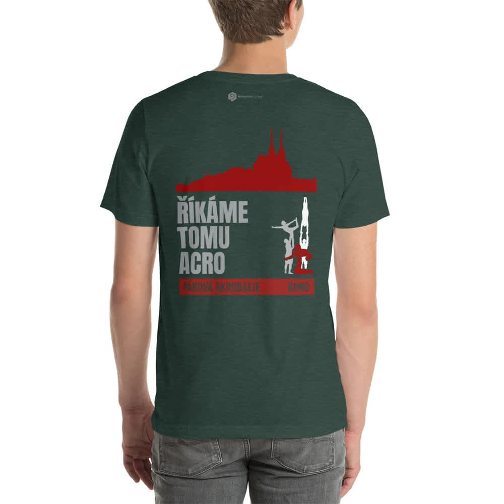 CZ Brno - Rikame tomu acro t-shirt heather forest back