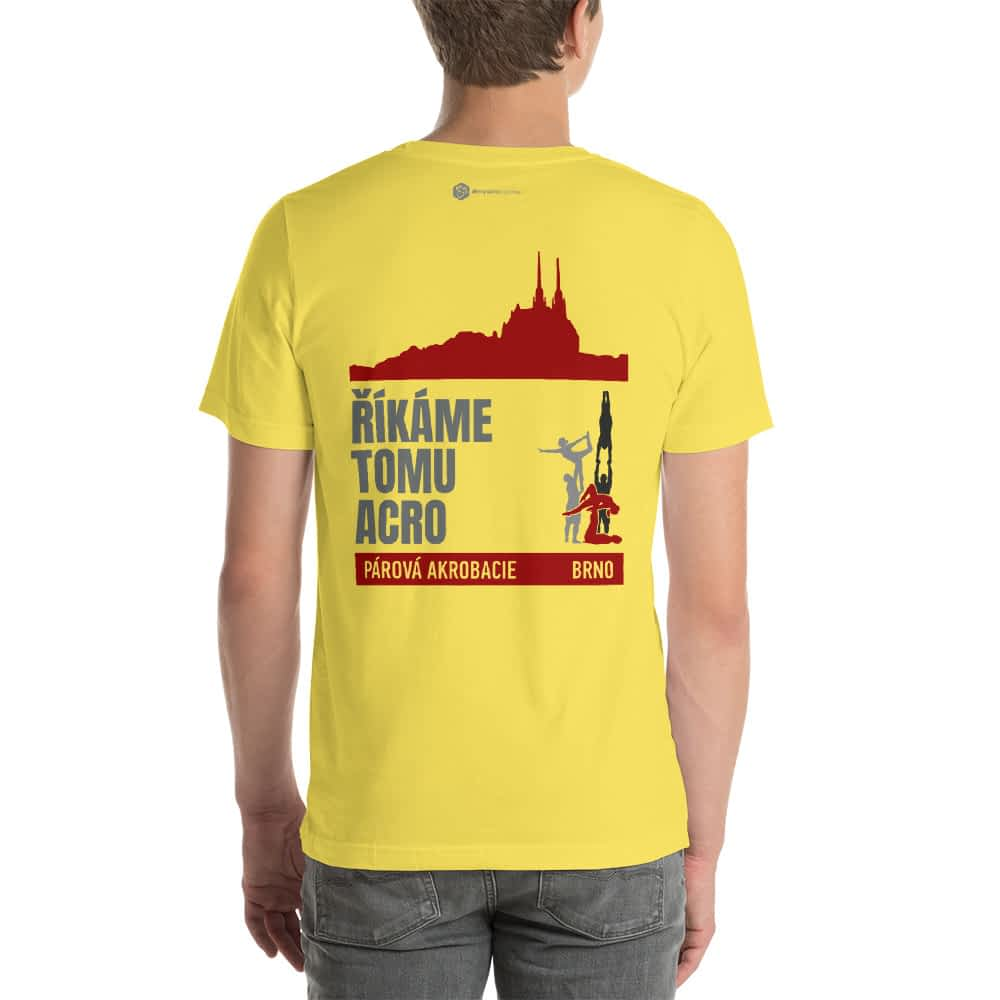 CZ Brno - Rikame tomu acro t-shirt Yellow front