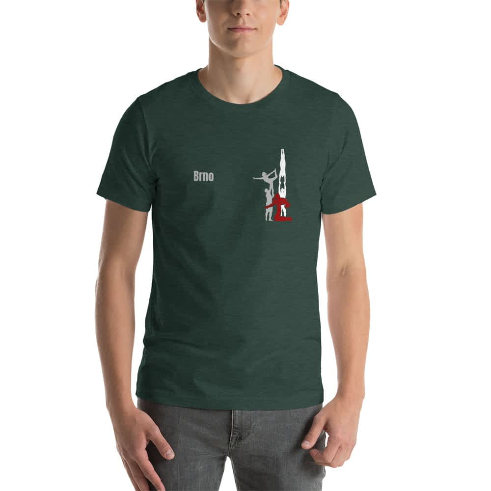 CZ Brno - Rikame tomu acro t-shirt heather forest front